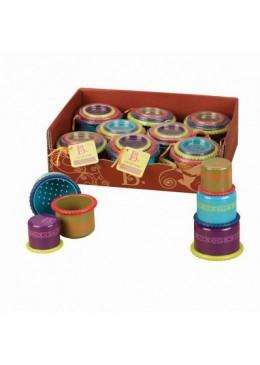 Zestaw trzech pojemniczków do przelewania wody, B.Toys