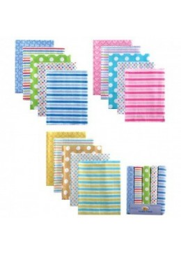 Pieluszki flanelowe 5-pack, niebieskie, Luvable Friends