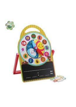 Drewniany zegar z tablicą, Manhattan Toy