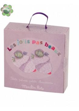 Buciki-kapciuszki różowe myszki, Moulin Roty