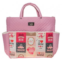 Cuddly Bag Kocham moją Mamę, Pink