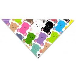 Chustka trójkątna na lato Kolorowe Misiaczki