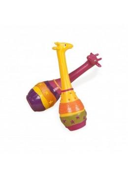 Grzechotki-marakasy - para żyraf, B.Toys