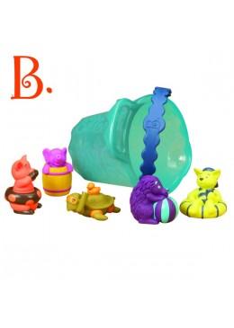 Zestaw do kąpieli - wiaderko ze zwierzątkami, B.Toys