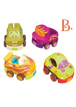 Zestaw miękkich autek Wheeee-ls!, B.Toys