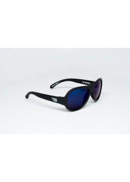 Okulary przeciwsłoneczne z Polaryzacją, czarny do zadań specjalnych-niebieskie szkła, r. 0-3 lat,  Babiators