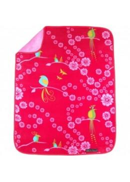 Koc Perłowy Dotyk Cherry Blossom Birds, Elodie Details