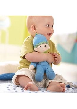 Lalka przytulanka Luis, niebieska, Haba