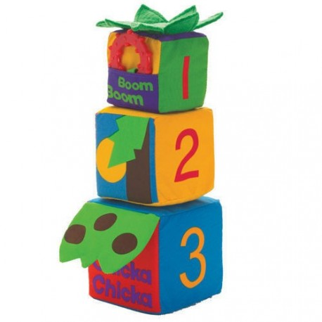 Piramidka z miękkich klocków, Manhattan Toy
