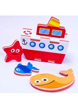 Zabawka do Kąpieli Budowanie Statku 3D, Meadow Kids
