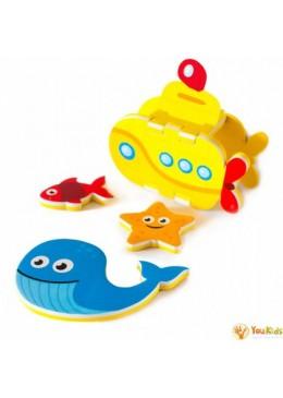 Zabawka do Kąpieli Budowanie Łodzi Podwodnej 3D, Meadow Kids