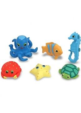 Morskie zwierzęta, zabawki do wanny, Melissa & Doug