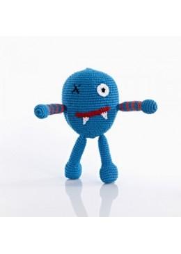 Grzechotka niebieski potworek, Pebble