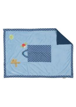 Kocyk w torbie, niebieski, Pioupiou & Merveilles
