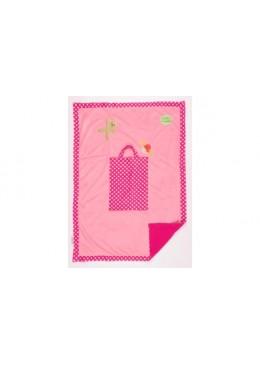 Kocyk w torbie, różowy, Pioupiou & Merveilles