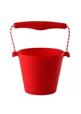 Zwijane silikonowe wiaderko czerwone, Scrunch Bucket