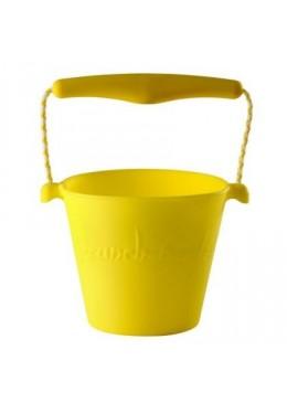 Zwijane silikonowe wiaderko żółte, Scrunch Bucket