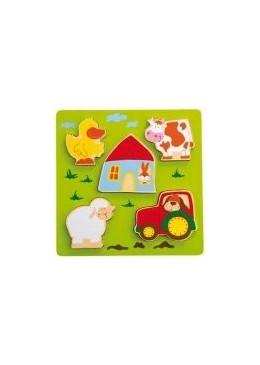 Drewniane puzzle Farma, Sigikid