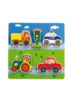 Drewniane puzzle Pojazdy, Sigikid