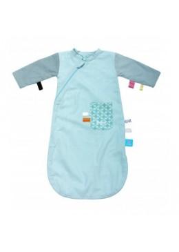 Śpiworek do spania z metkami (0-3) - niebieski, Snoozebaby