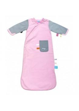 Śpiworek do spania z metkami (3-9) - różowy, Snoozebaby