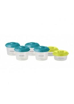 Zestaw słoiczków Clip 6 szt. 60 ml i 120 ml, Beaba