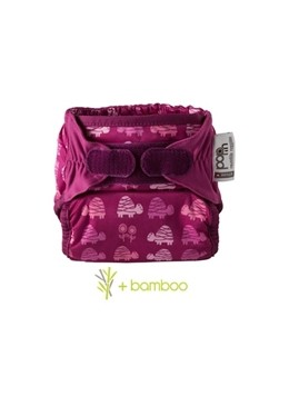 Pieluszka Pop in AIO Pink Turtle, bambus V1, Close Parent