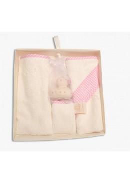 Zestaw prezentowy dla noworodka, pink, Cuddledry