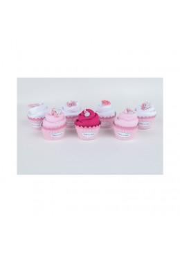 Baby Cupcake Body dziecięce krótki rękaw, różowe, 0-3m, Cotton & Sweets