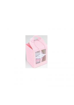 Body dziecięce krótki rękaw, różowe, Baby Cupcake