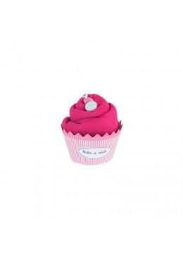 Baby Cupcake Body dziecięce długi rękaw, fuksja, 0-3m, Cotton & Sweets