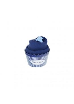 Baby Cupcake Body dziecięce krótki rękaw, granat, 3-6m, Cotton & Sweets