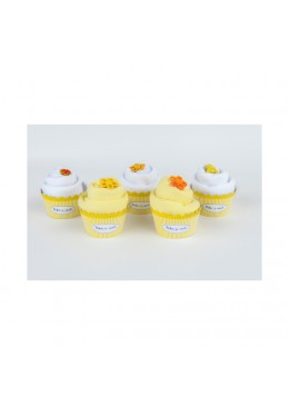 Baby Cupcake żółty Body dziecięce długi rękaw, żółte, 0-3m, Cotton & Sweets