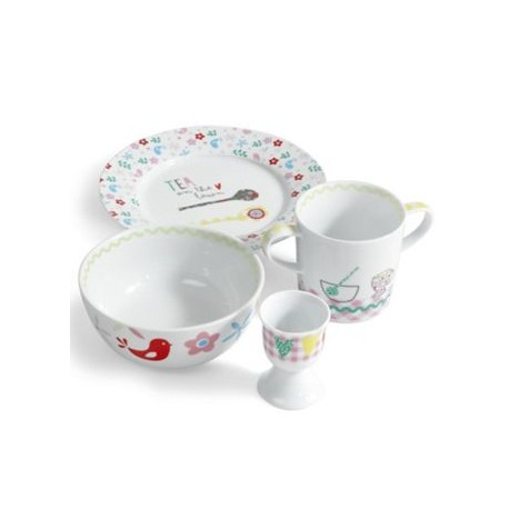 All Mine - Girls Ceramic Breakfast Set, Mamas & Papas
