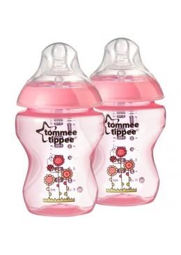 Butelka 260ml dekorowana 0m+ (różowa), Tommee Tippee