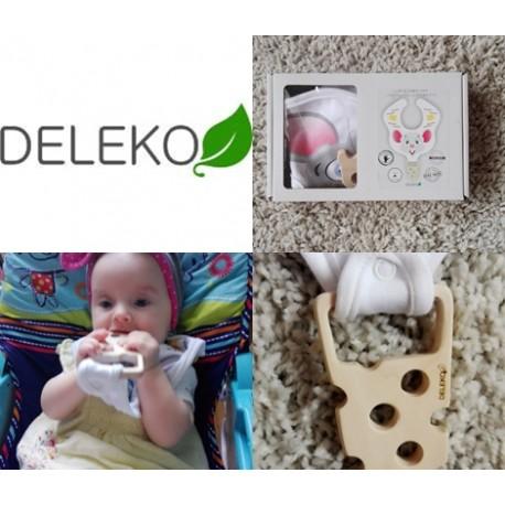 Śliniak z gryzakiemz drewna klonowego, Deleko