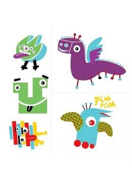 Zmywalne tatuaże dla dzieci, Sympatyczne potwory, Zuzu Toys