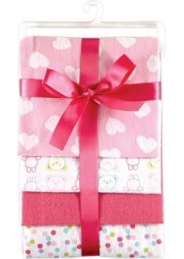 Pieluszki flanelowe 4 pack, różowe, Luvable Friends