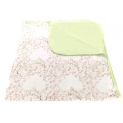 Kocyk i podusia Soft Touch Cherry Heart, Green