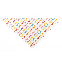 Chustka trójkątna na lato Koniki Morskie