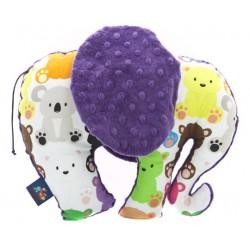 Zabawka Słoń Kolorowe Misiaczki, Amethyst