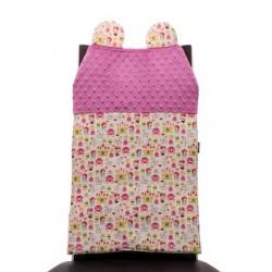 Oparcie na krzesło Cuddly Back Księżniczki, Raspberry