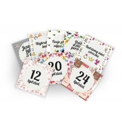 Zestaw Cuddly Cards. Ciąża + Dziecko Dziewczynka