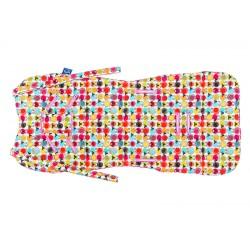Wkładka do wózka Cuddly Cover, Owieczki, Raspberry