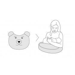Poduszka wielofunkcyjna Bear Kolorowe Misiaczki, Fuksja