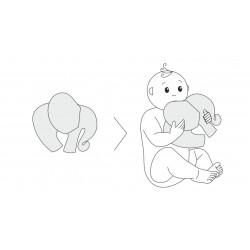 Zabawka Słoń Superbohater Nie bój się, Amethyst